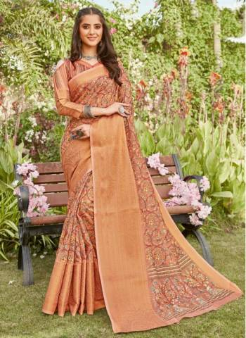 Dark Pink Linen Party Wear Designer Weaving Saree