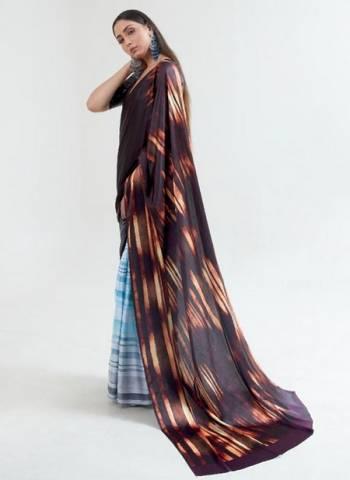 Multi Color Japan Satin Casual Wear Digital Printed Saree