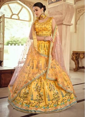 Musterd Gota Silk Wedding Wear Stylish Swarovski Work Lehenga Choli
