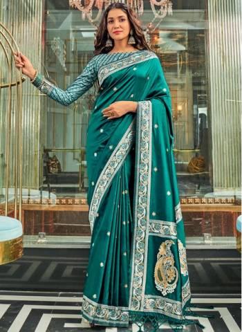 Rama Pure Silk Wedding Wear Traditional Weaving Saree