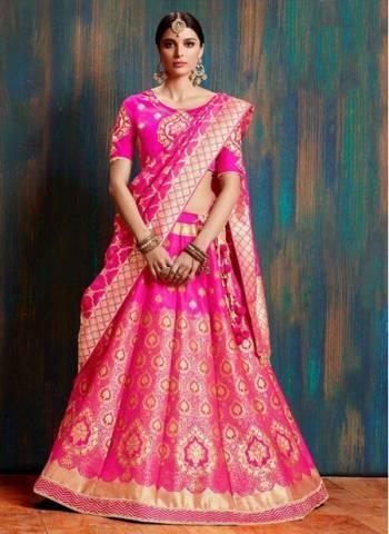 Rani Silk Wedding Wear Weaving Designer Lehenga Choli