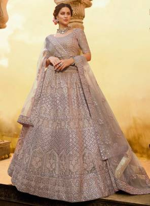 Onion Crepe Bridal Wear Sequins Work Designer Lehenga Choli