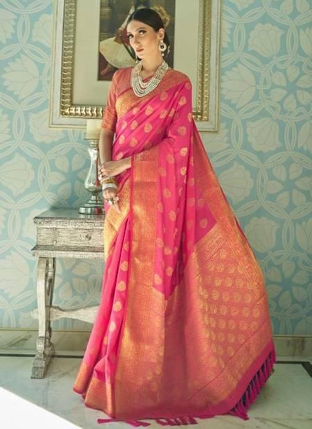 Rani Sana Silk Festival Wear Weaving Saree