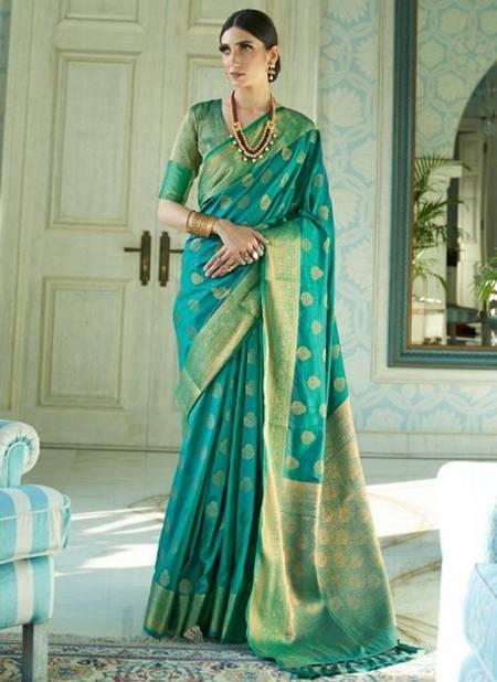 Sky Blue Sana Silk Festival Wear Weaving Saree